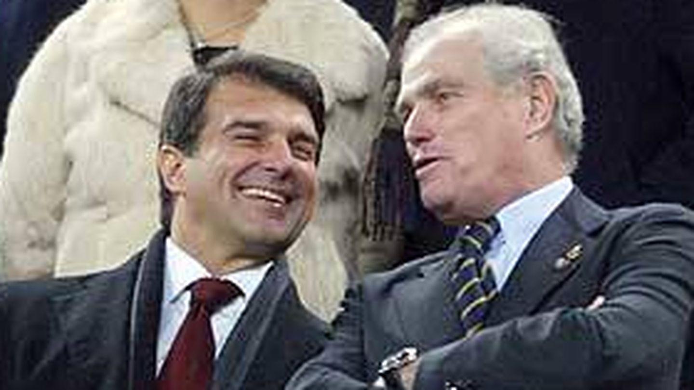 Joan Laporta y Ramón Calderón. (EFE)