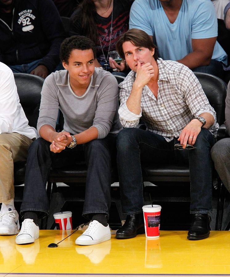 Foto: Connor y Tom Cruise, en una foto de archivo. (Getty)