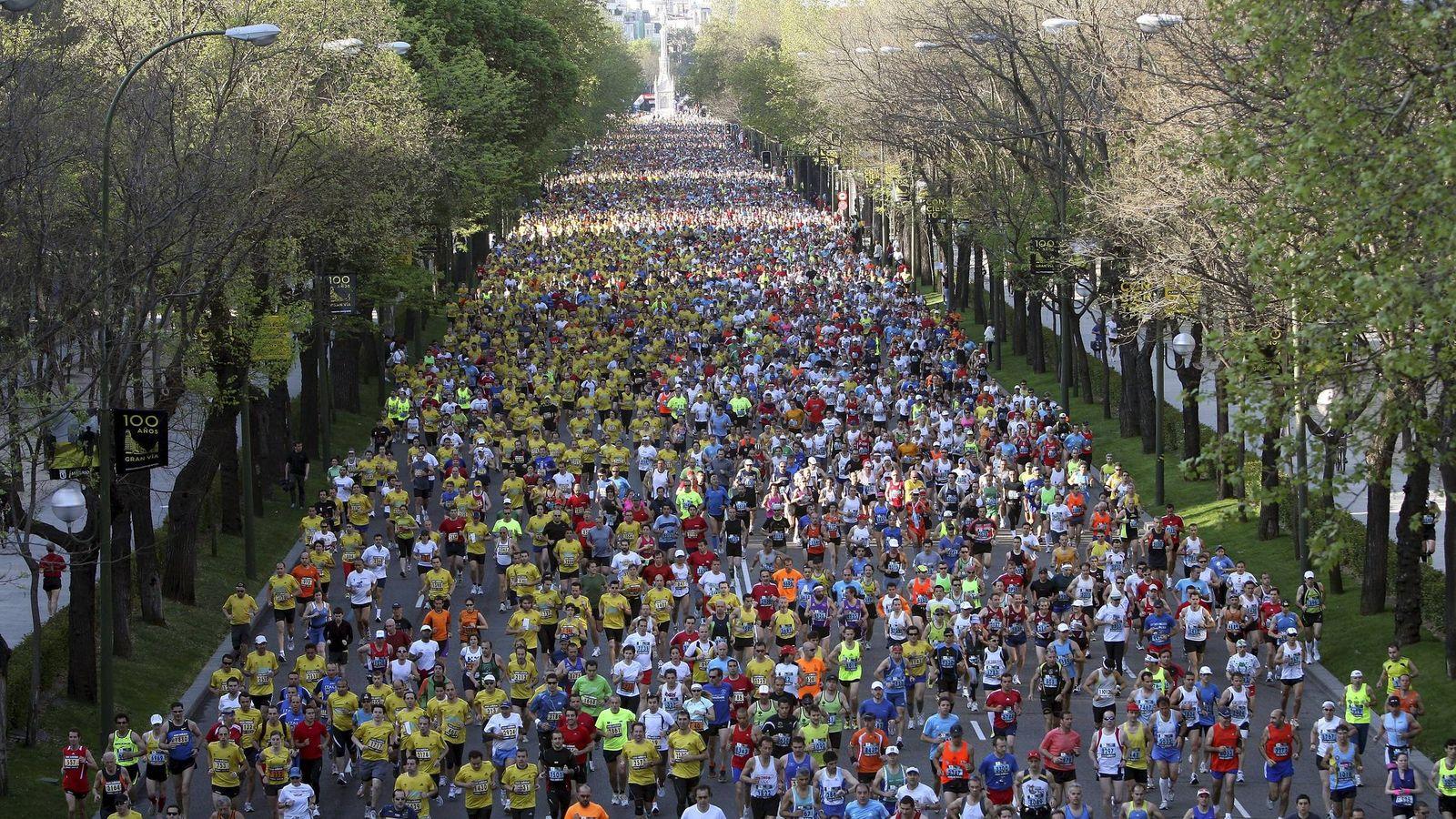Foto: Participantes en la maratón de Madrid. (Efe)