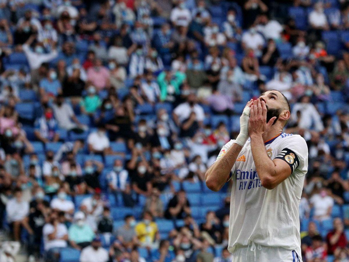 Foto: Ni Benzema pudo solucionar el atasco blanco. (Reuters)