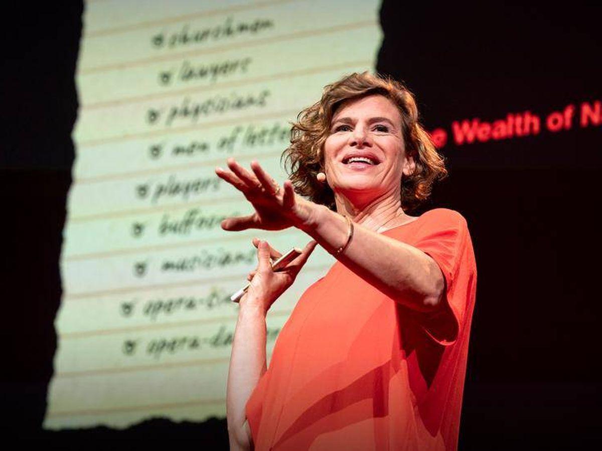 Foto: La economista Mariana Mazzucato, durante una charla TED.