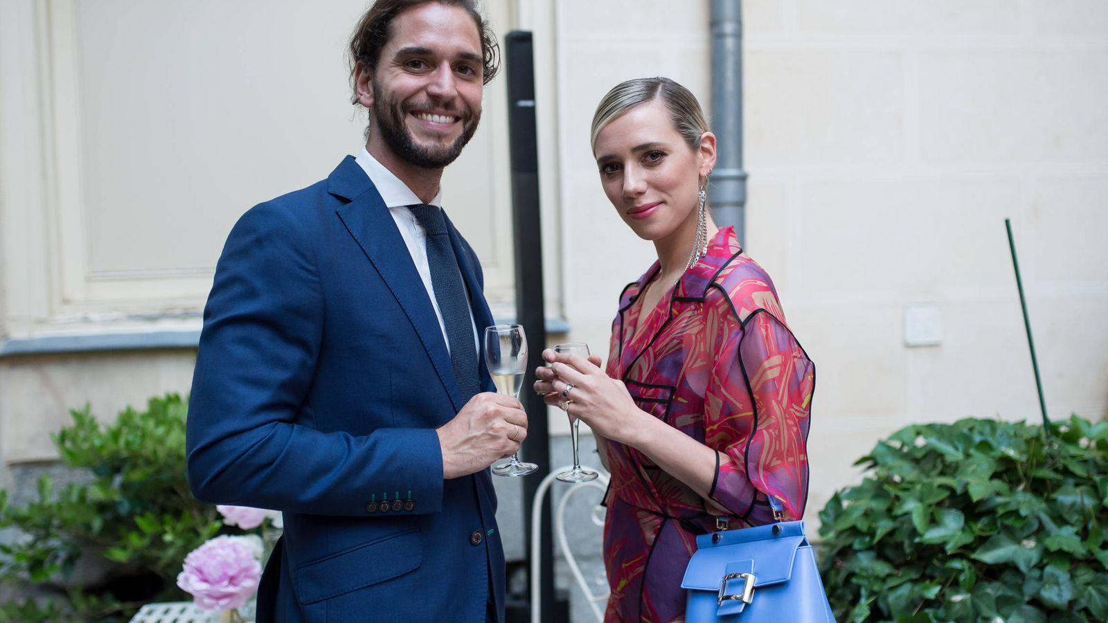 Foto: Lulu Figueroa Domecq y Adrián Saavedra. (Getty)