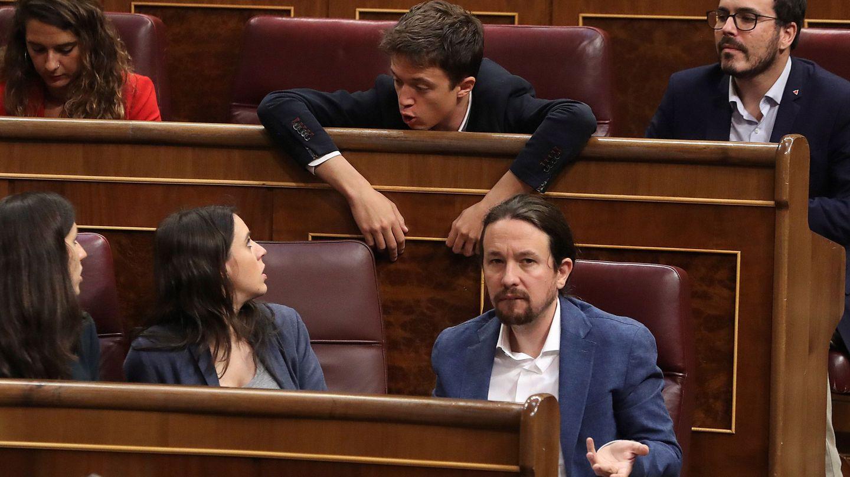 Pablo Iglesias, Irene Montero e Iñigo Errejón. (Efe)
