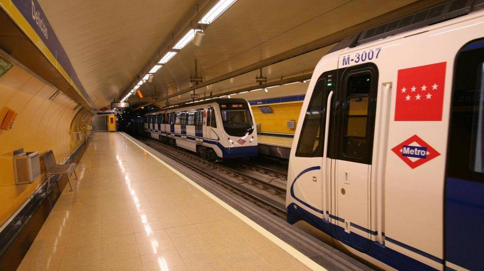 Foto: Metro de Madrid a su paso por Delicias. (Metro de Madrid)