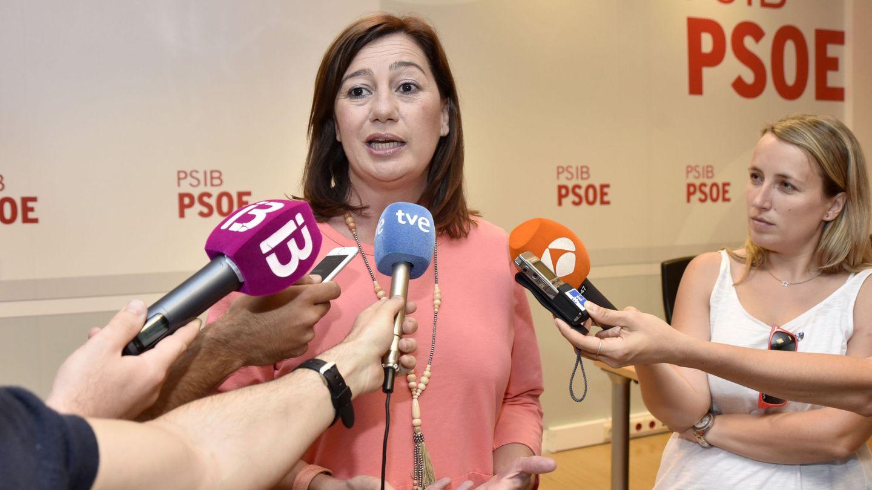 La presidenta balear, Francina Armengol, el pasado 19 de junio, tras oficializar su precandidatura a la secretaría general. (EFE)