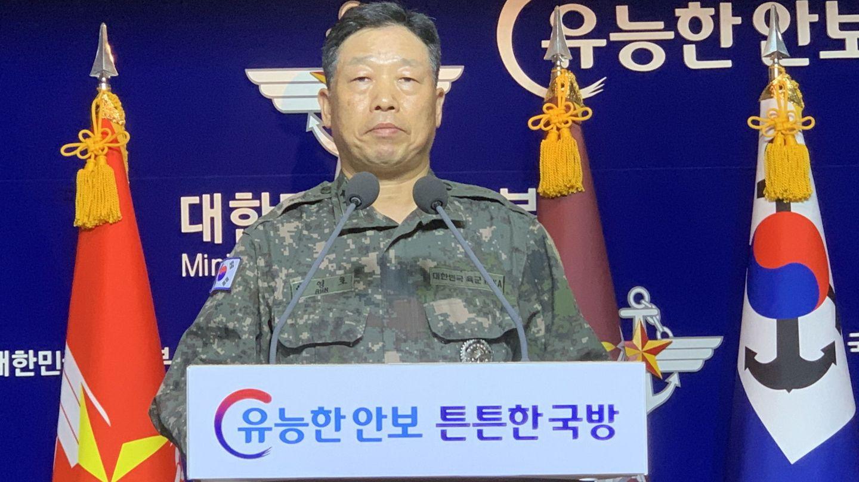 El responsable de operaciones del Estado Mayor Conjunto (JCS) surcoreano, Ahn Young-ho. (EFE)