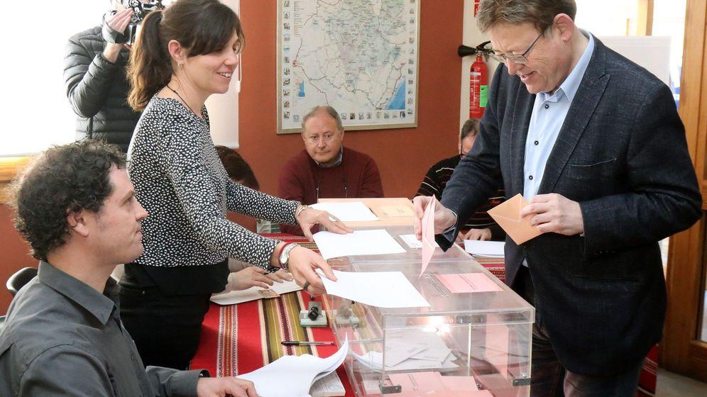 Foto: Ximo Puig vota en Morella, Castellón.