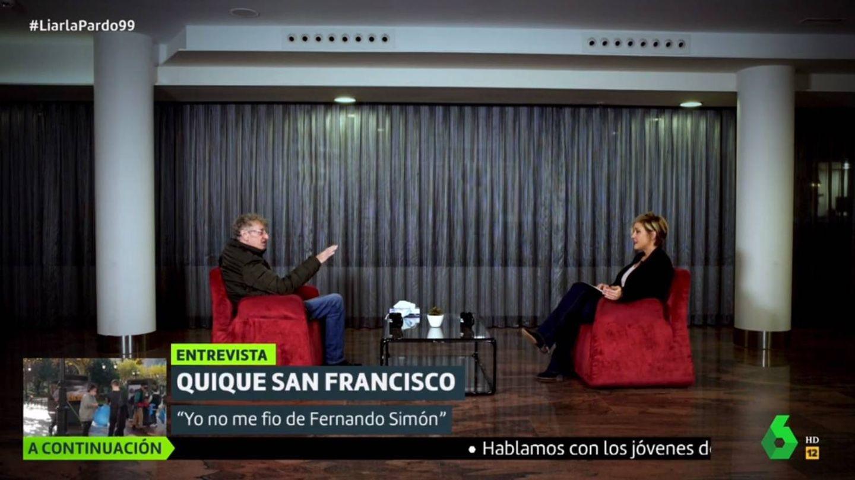Enrique San Francisco y Cristina Pardo. (La Sexta).