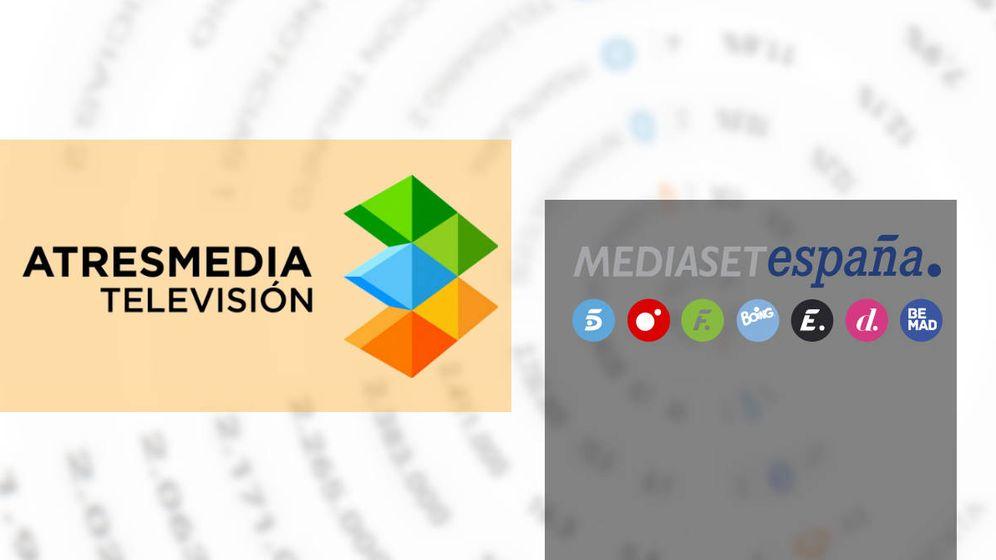 Foto: Logotipos de Atresmedia y Mediaset España. (EL CONFI TV)