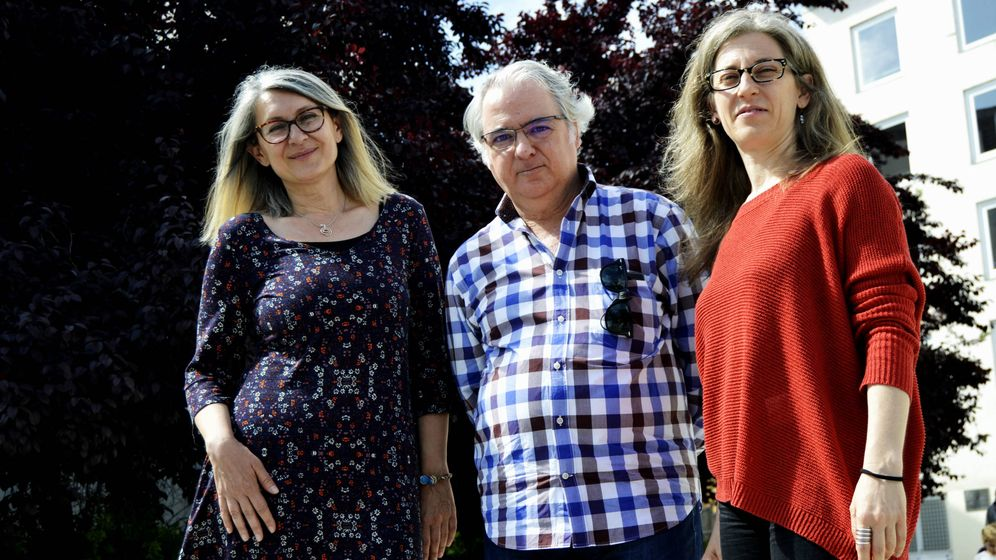 Foto: De izq. a der. Cristina, Fernando y Eleonora (M.Z.)