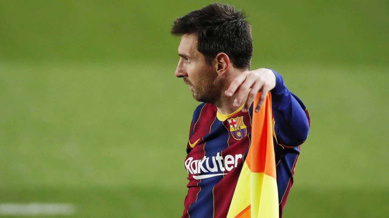 Messi, en una imagen frente a la Real Sociedad. (Reuters)