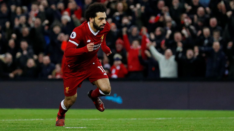 Mohamed Salah rescató al Liverpool con un doblete. (Reuters)