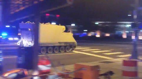 Policía estadounidense a la caza de un vehículo blindado robado por un soldado