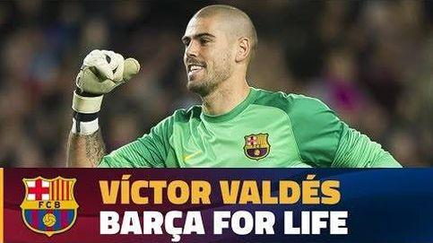 El emotivo homenaje del Barcelona a Víctor Valdés