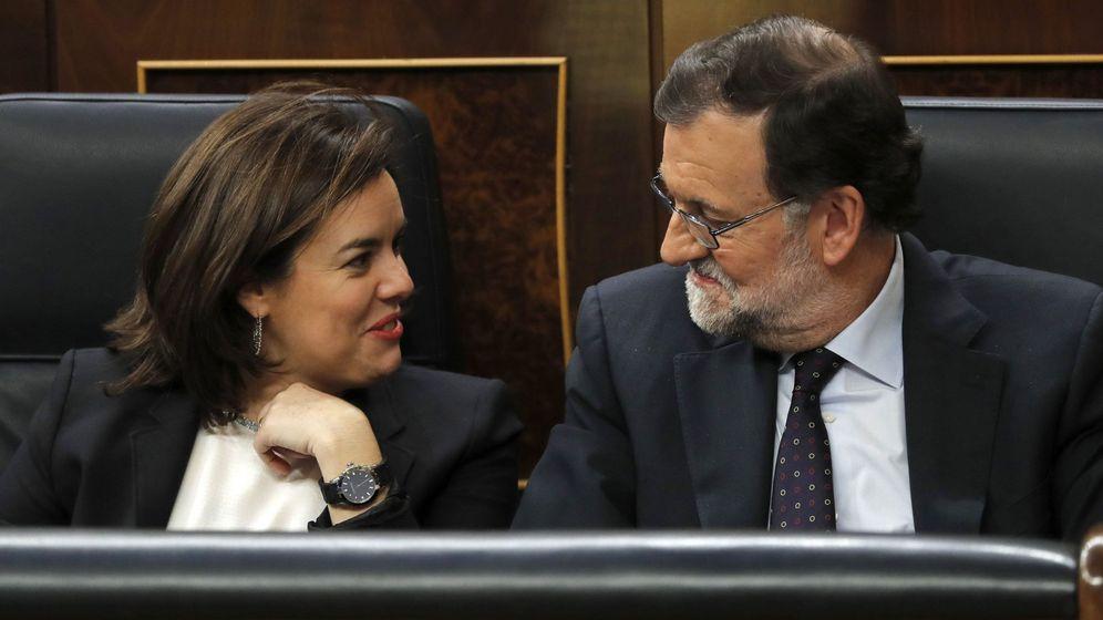 Foto: Rajoy y Soraya Saenz de Santamaría. (EFE)
