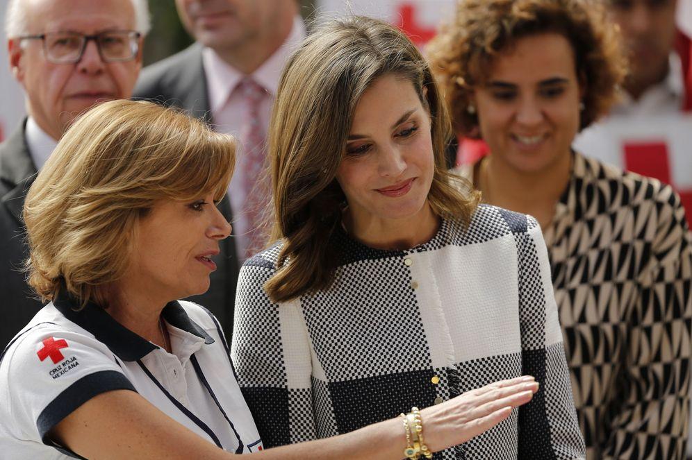 Foto: La reina Letizia visita la sede de la Cruz Roja de México