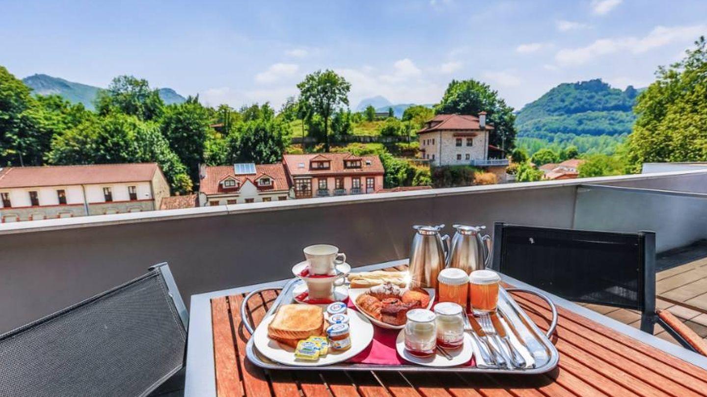 Desayunando con vistas. (Cortesía)