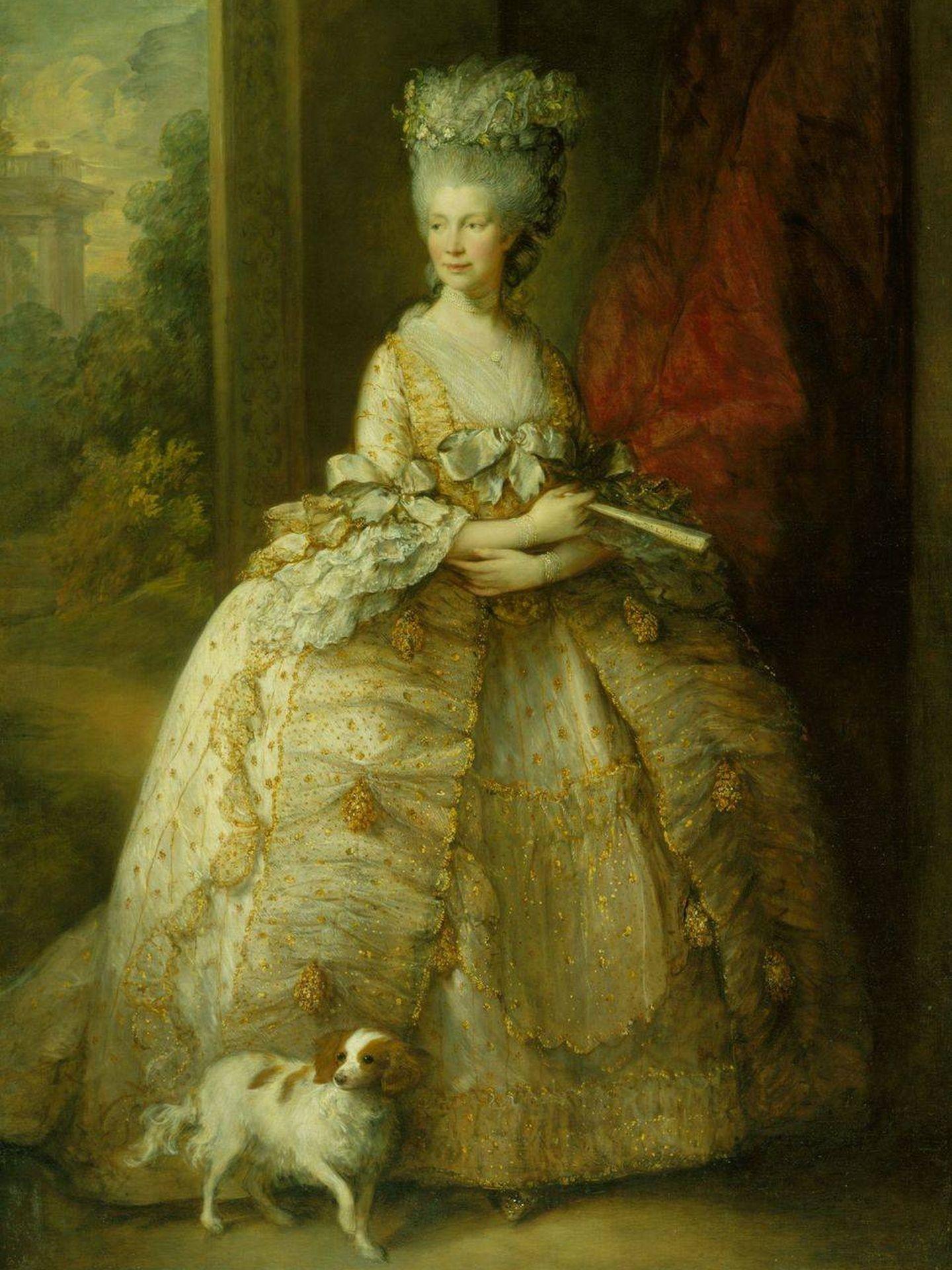 Retrato de la reina Charlotte.