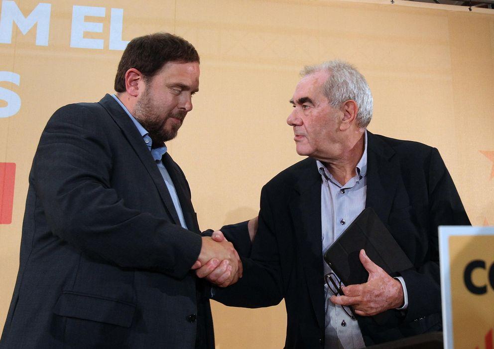 Foto: Noche electoral de Junqueras y Ernest Maragall. (Efe)