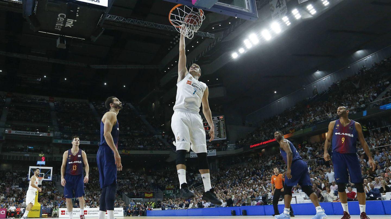 Doncic fue el máximo anotador del partido con 20 puntos. (ACB Photo/Á. Martínez)