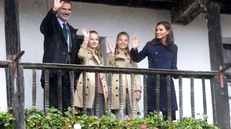 La familia real, en su visita a Asturias. (EFE)