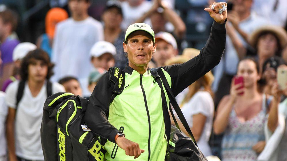 Foto: Nadal, tras su victoria en Miami. (EFE)