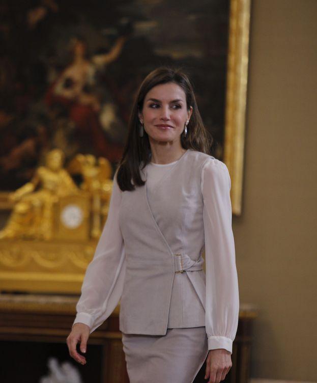 Foto: Doña Letizia durante las audiencias de este viernes. (EFE)