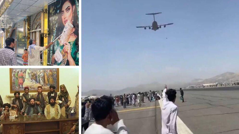 Foto: Imágenes del caos tras la toma de Kabul por parte de los talibanes.