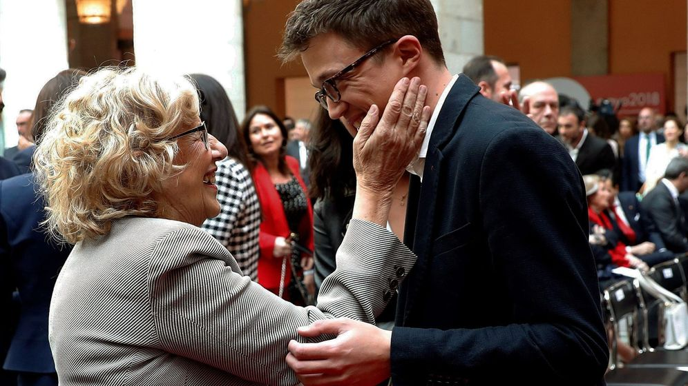Foto: Manuela Carmena, y el diputado de Podemos Íñigo Errejón. (EFE)
