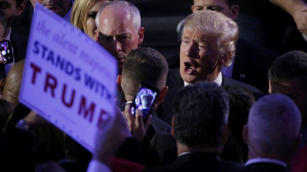 Foto: Donald Trump en su primera comparecencia. REUTERS
