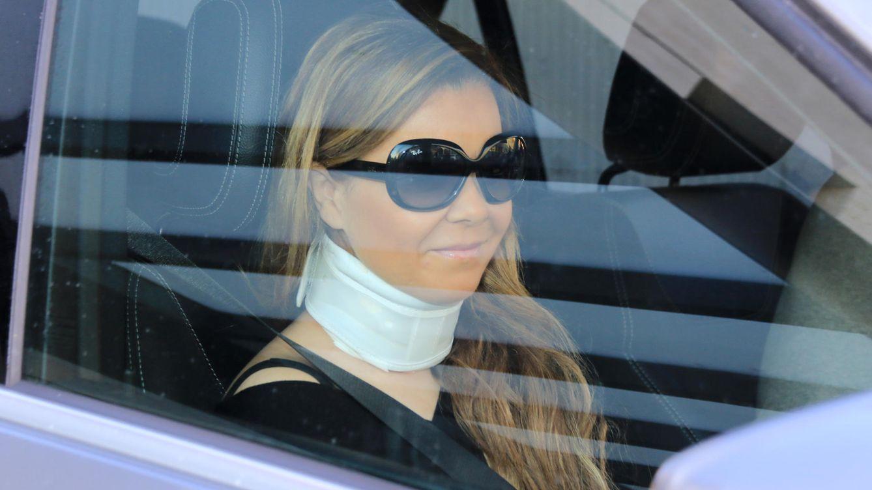 Foto: María José Campanario durante su salida de la clínica sevillana (Gtres)