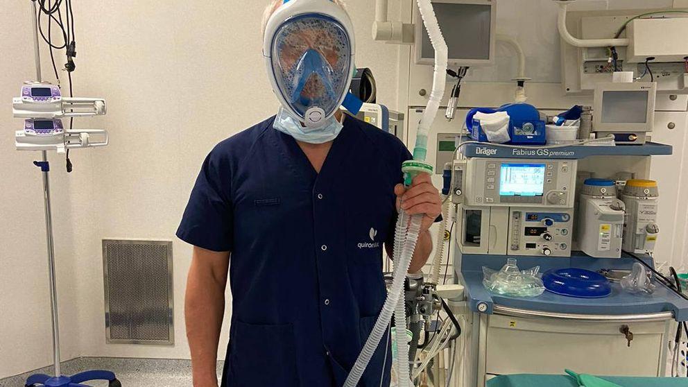 Snorkel 'tuneado' y ropa reutilizable: el plan de emergencia de un médico en la UCI vasca