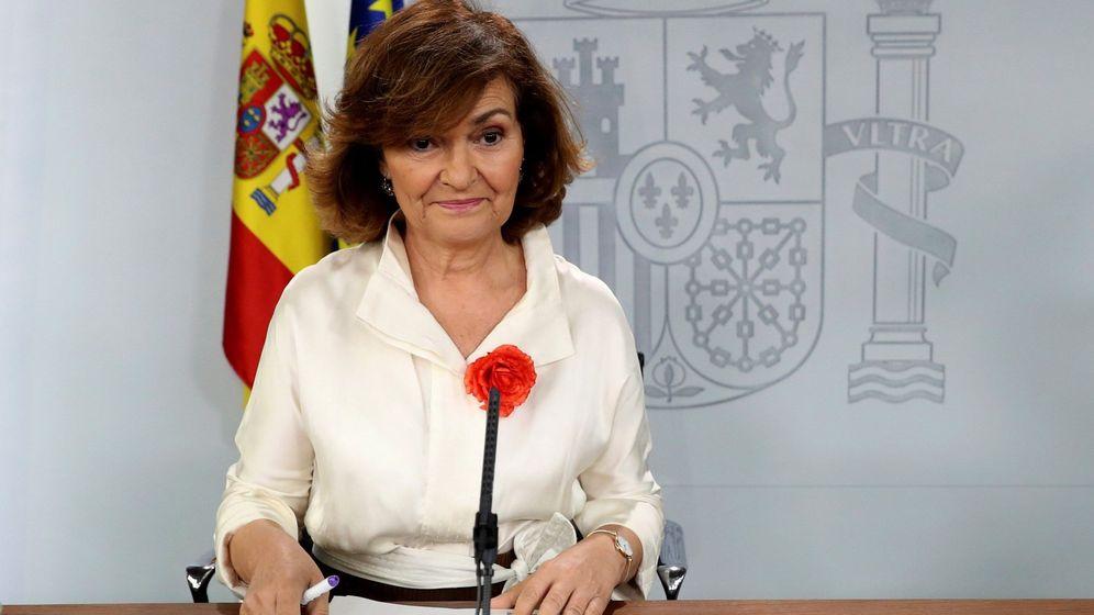 Foto: La vicepresidenta en funciones, Carmen Calvo. (EFE)
