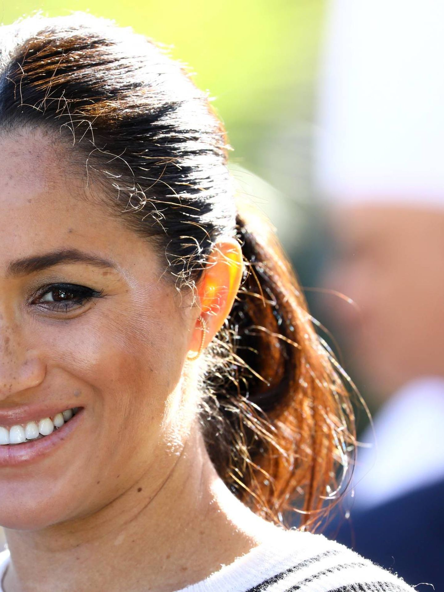 El pelo de Meghan Markle durante su embarazo manifestó un notable crecimiento que se frenó en seco tras dar a luz. (Getty)