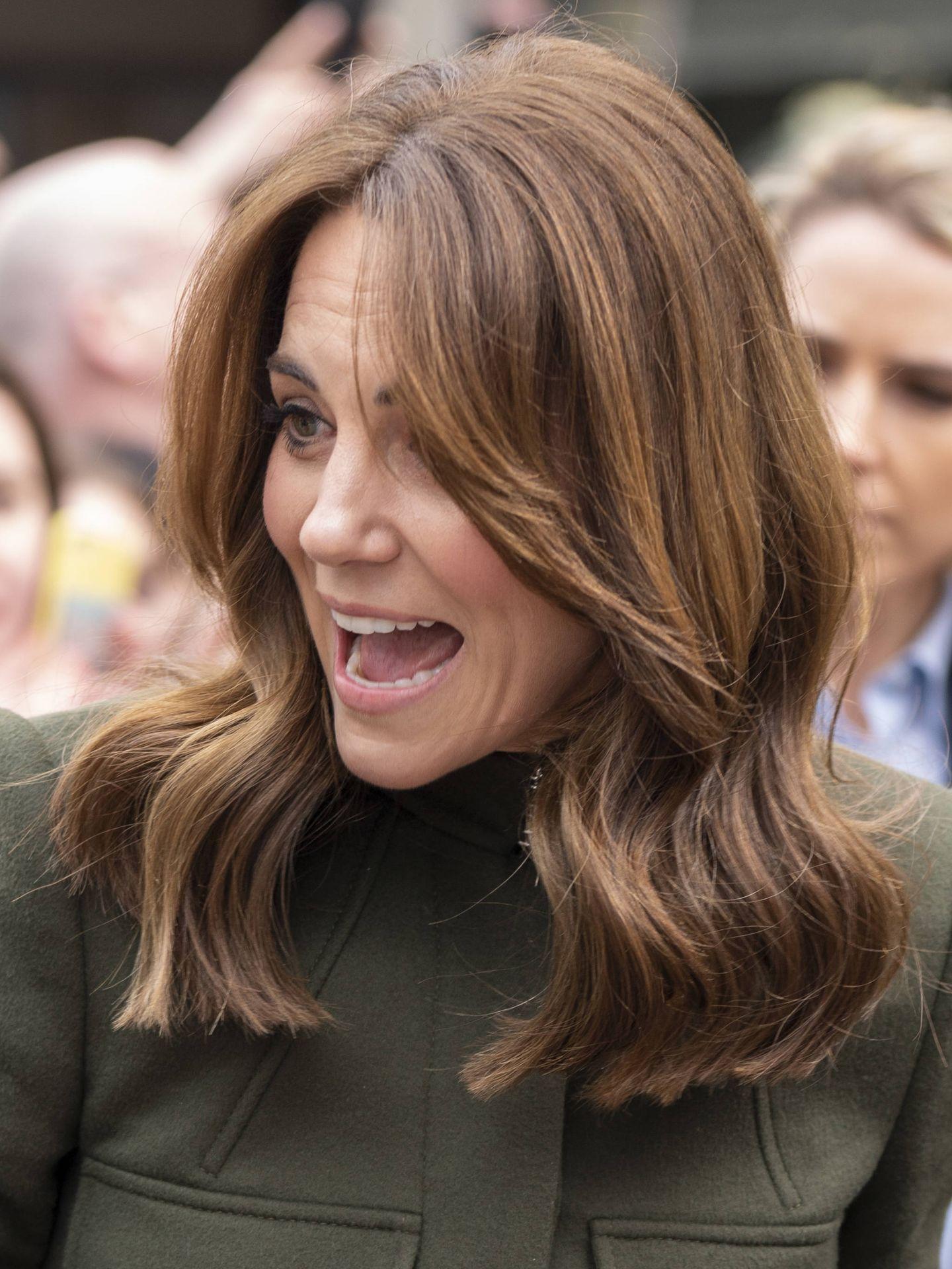 Kate Middleton, con las raíces canosas. (Getty)