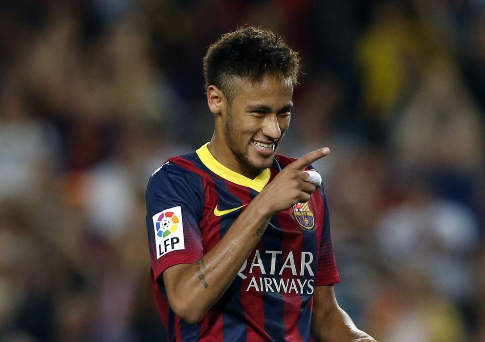 Foto: Neymar celebra su gol ante el Valladolid (Reuters).