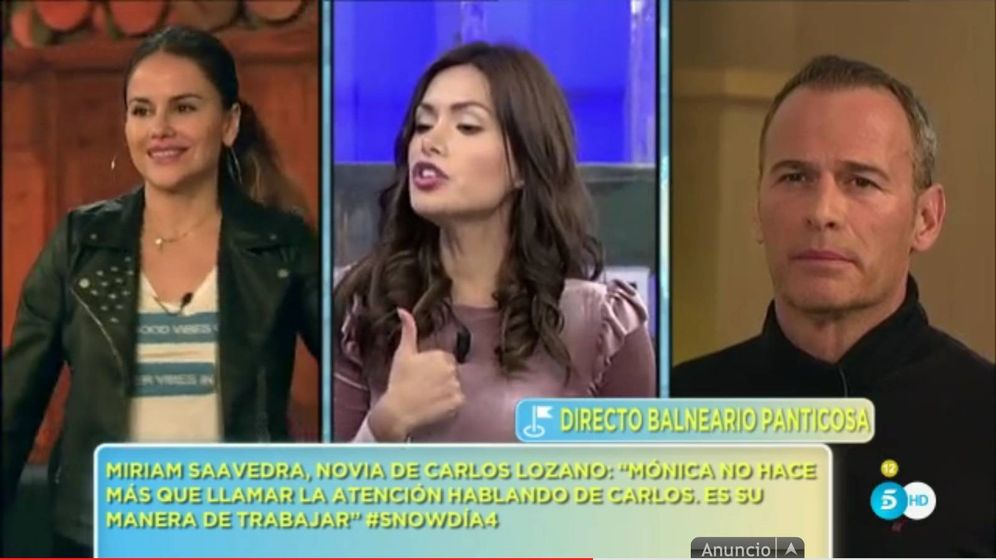 Foto: El trío formado por Mónica Hoyos, Miriam Saavedra y Carlos Lozano.