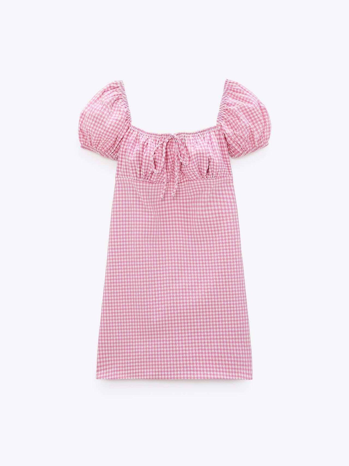 Un vestido con print de Zara. (Cortesía)