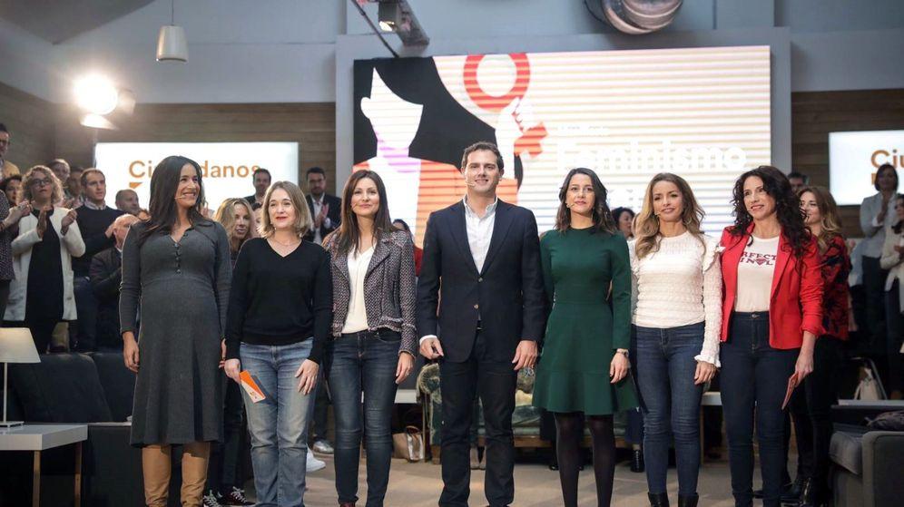 Foto: Fotografía facilitada por Ciudadanos, que presenta su decálogo de Feminismo Liberal. (EFE)