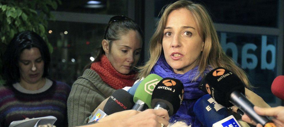 Foto: Tania Sánchez, antes de su comparecencia en la comisión sobre los contratos de Rivas. (Efe)