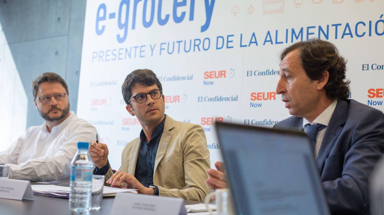 Marc Bayo (SEUR Now), Manuel Ángel Méndez (El Confidencial) y Enric Ezquerra (Sánchez Romero).
