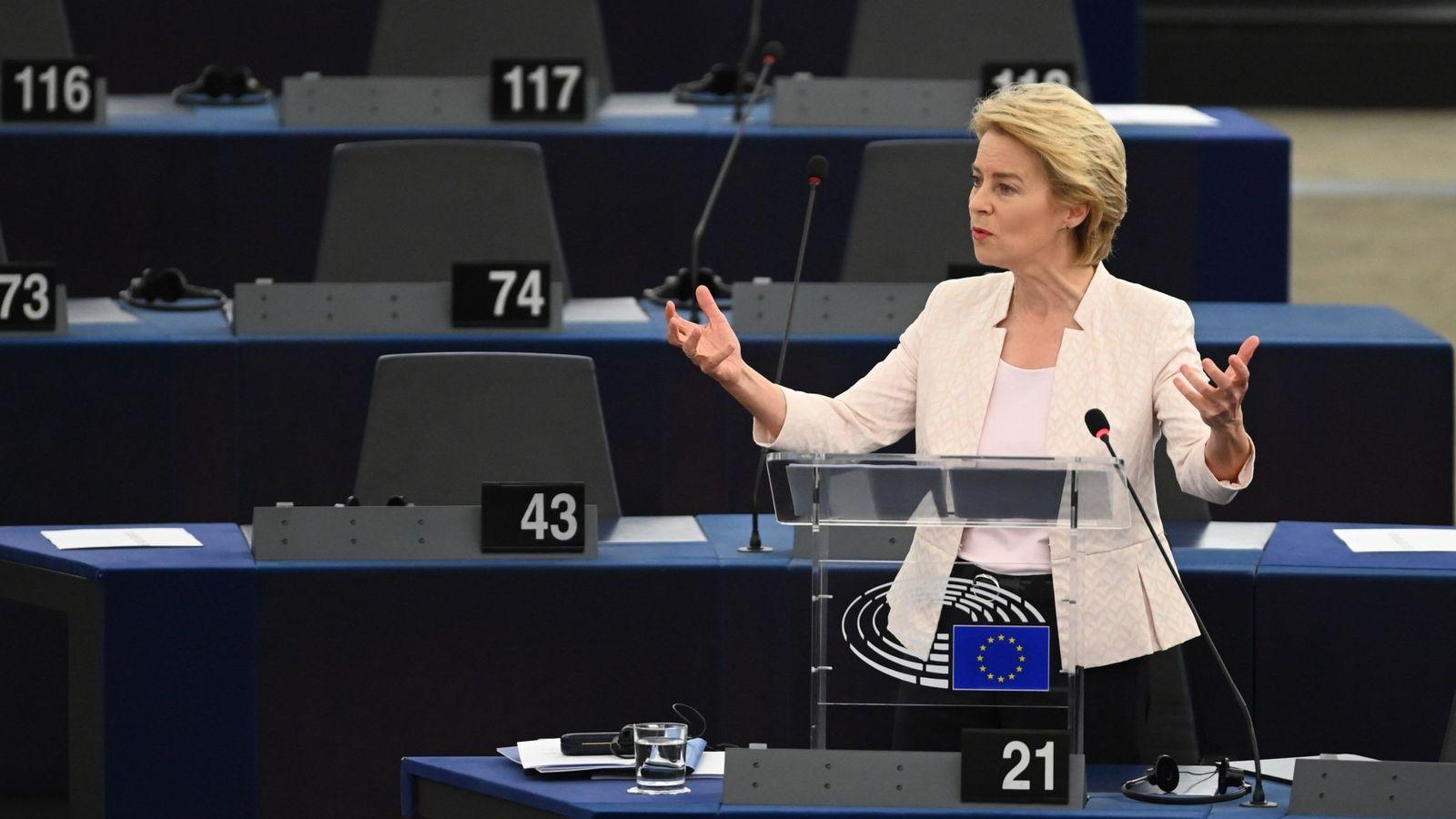 Foto: Von der Leyen en el Parlamento Europeo. (EFE)