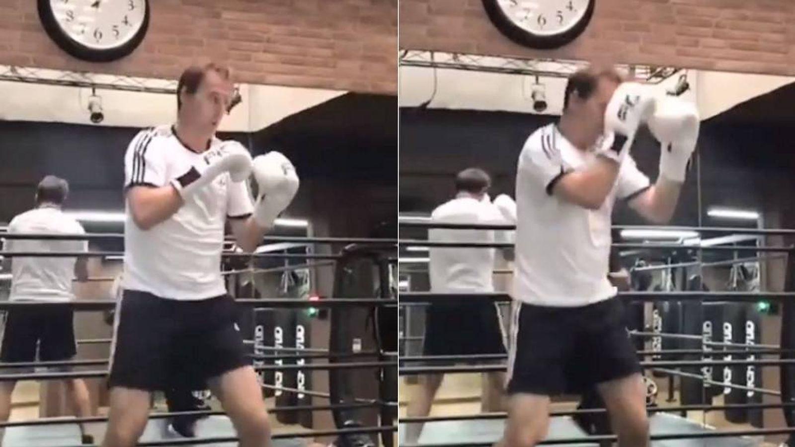 Foto: Julen Lopetegui ha empezado a boxear. (instagram.com/joseluisserranovalero/)