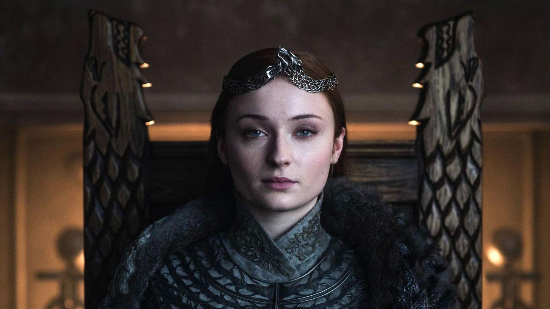 Sophie Turner, en una de las escenas finales de 'Juego de tronos'. (EFE)