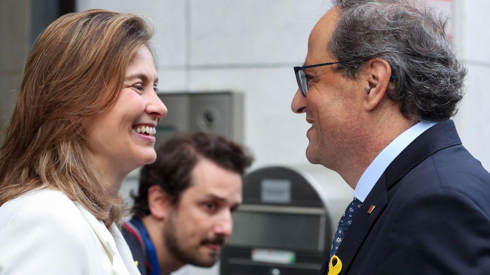 Foto: El presidente de la Generalitat de Catalunya, Quim Torra, junto a la consejera de Agricultura de la Generalitat de Catalunya, Meritxell Serret. (EFE)