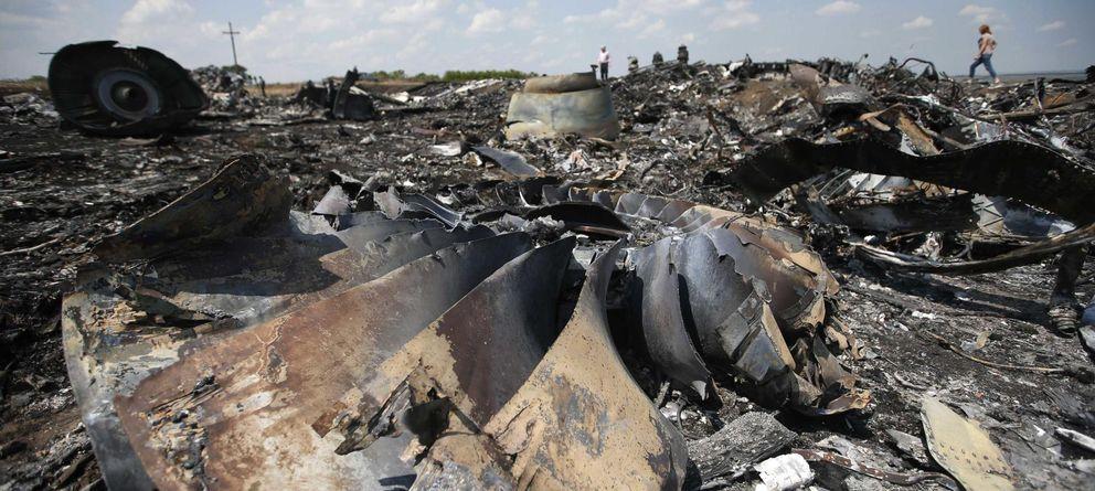 Foto: Restos del avión de Malaysia Arlines (Reuters)