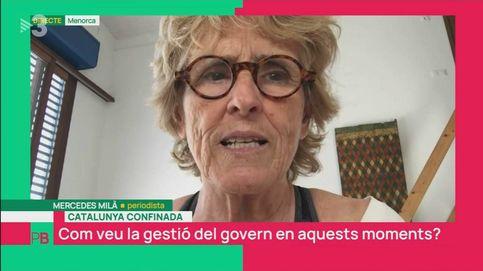 El zasca de Mercedes Milá a Ricard Ustrell (TV3): ¡Qué manía tenéis de considerar a Cataluña fuera de España!