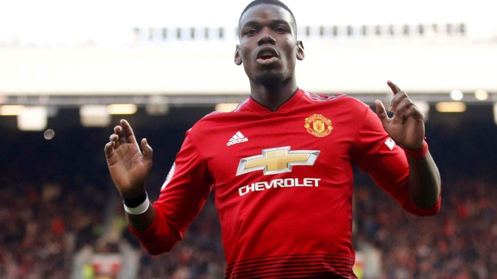 Foto: Pogba celebra un gol con el Manchester United en Old Trafford. (Efe)
