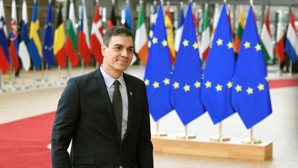 Foto: Pedro Sánchez a su llegada a la cumbre europea. (EFE)