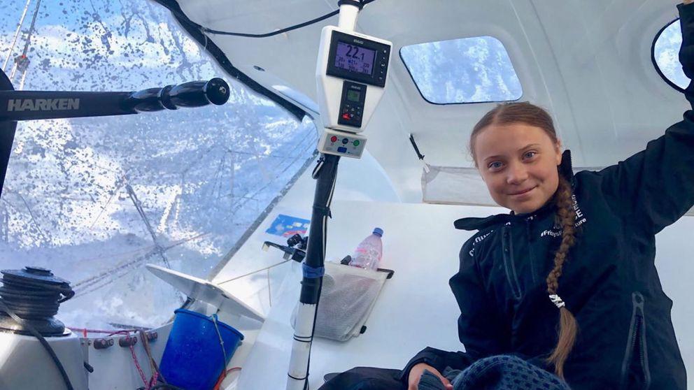 Greta Thunberg llega a Nueva York tras 14 días de travesía atlántica en un velero
